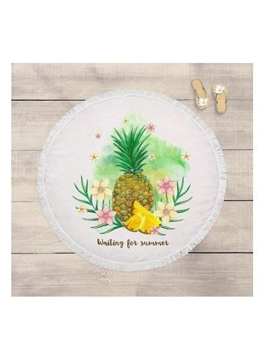 Lyn Home & Decor Ananas Ve Çiçek Çok Amaçlı Örtü Renkli